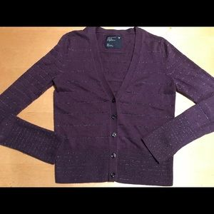 American Eagle Sparkle Striped V-neck Cardigan S